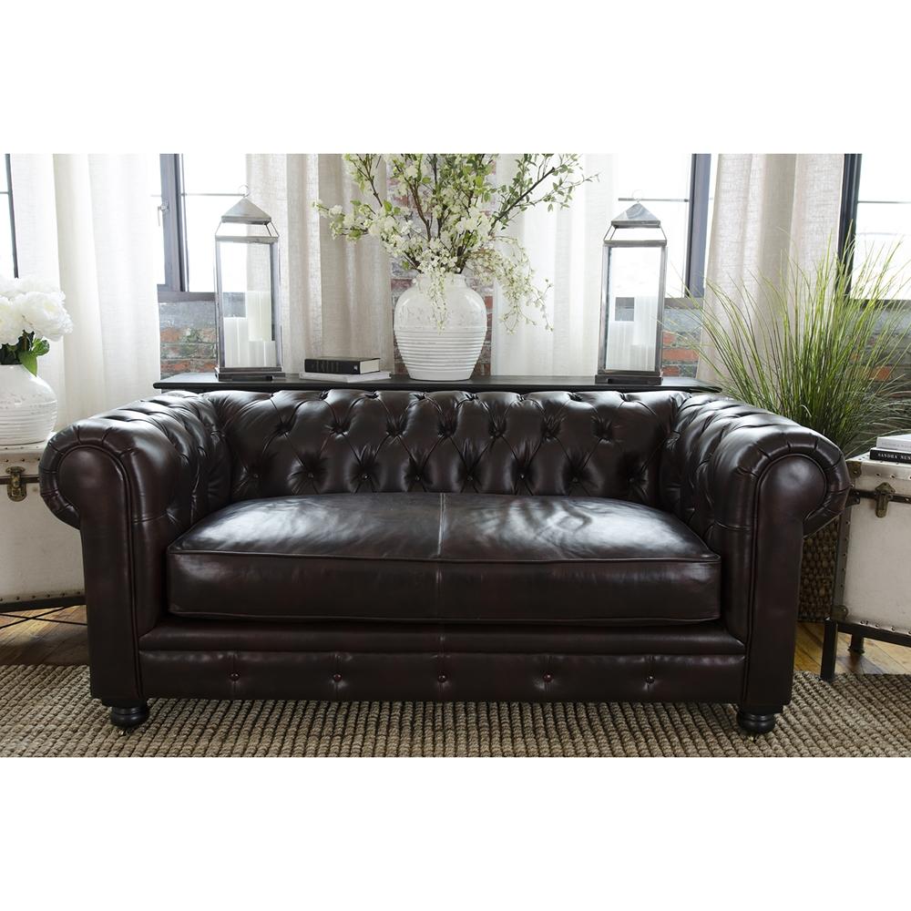 Estate 3 piece top grain leather sofa set saddle dcg for 3 piece couch set