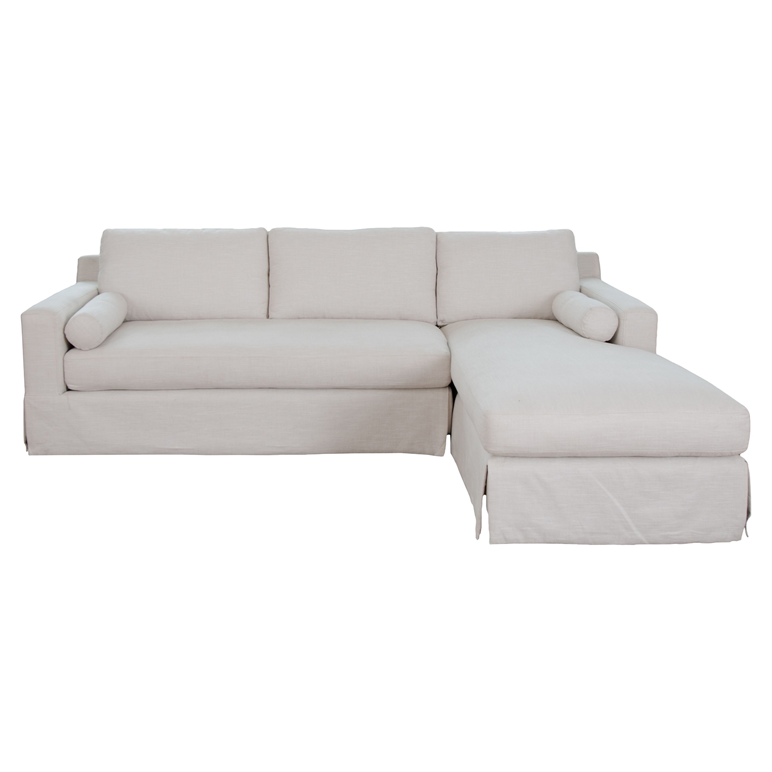 Haley Fabric Sectional - Seashell, Right Arm Facing Chaise - ELE-HAL-SEC-LAFL-RAFC-SEAS-7
