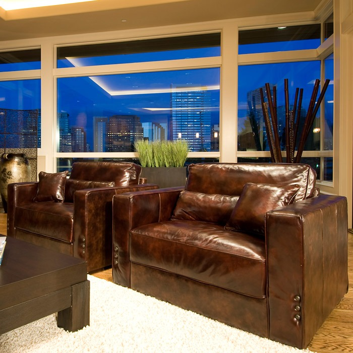 Laguna 3 Piece Leather Sofa Set In Saddle Brown Dcg Stores