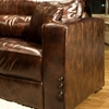 Laguna 3 Piece Leather Sofa Set in Saddle Brown - ELE-LAG-3PC-S-SC-SC-SADD-1