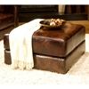 Laguna Saddle Brown Square Cocktail Ottoman - ELE-LAG-CO-SADD-1