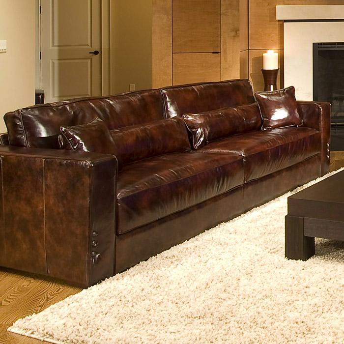 Saddle Soap For Leather Sofa: Laguna 3 Piece Leather Sofa Set In Saddle Brown