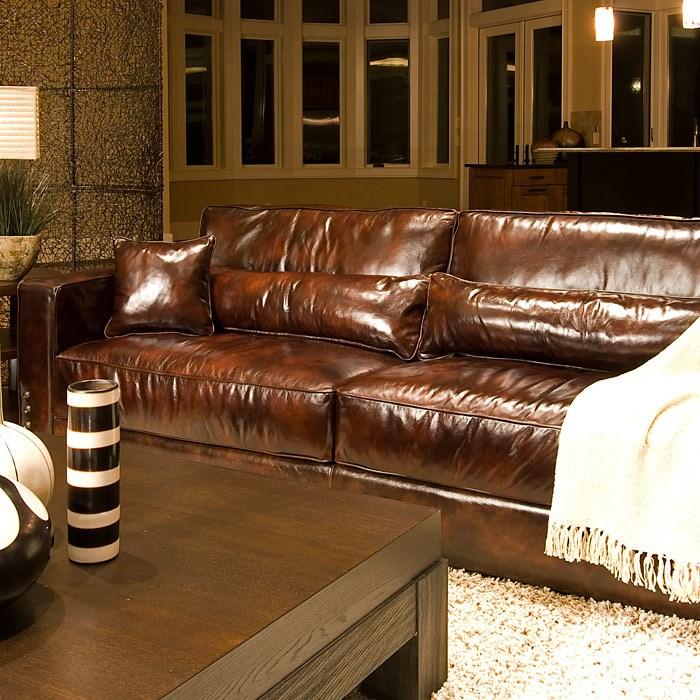 Saddle Soap For Leather Sofa: Laguna Saddle Brown Leather Sofa