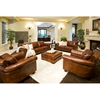 Paladia Leather Sofa In Rustic Brown Ele Pal S Rust 1