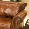 Paladia Leather Sofa in Rustic Brown - ELE-PAL-S-RUST-1-NH025