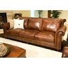 Paladia 4 Piece Leather Sofa Set In Rustic Brown Ele Pal 4pc