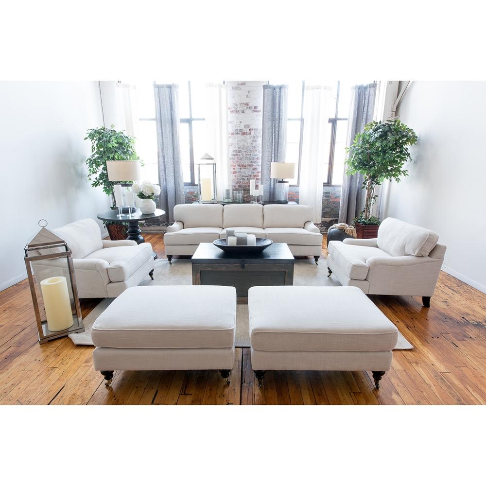 Saint Tropez 5 Pieces Fabric Sofa Set - Seashell