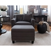 Santa Monica 2 Pieces Fabric Standard Chair and Storage Ottoman - Beachwood - ELE-SAN-2PC-SC-STO-BEAC-7