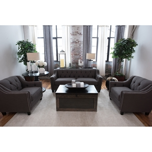 Santa Monica 3 Pieces Fabric Sofa Set - Beachwood