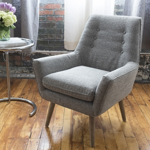 Slater Standard Chair - Heather, Button Tufted