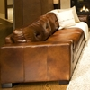 Soho 3 Piece Rustic Brown Leather Sofa Set W Oversized Chairs Dcg
