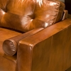 Soho Top Grain Leather Club Chair in Rustic Brown - ELE-SOH-SC-RUST-1