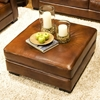 Soho Top Grain Leather Cocktail Ottoman in Rustic Brown - ELE-SOH-CO-RUST-1