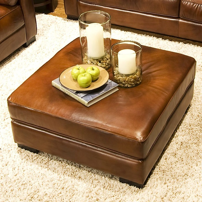 Soho 4 Piece Rustic Brown Leather Sofa Set W Oversized