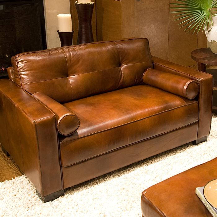 Soho top grain leather oversized club chair in rustic brown dcg stores for Oversized leather living room furniture