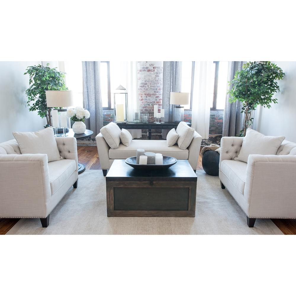 South Beach 3 Pieces Fabric Sofa Set - Seashell