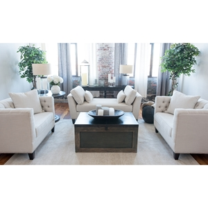 South Beach 3 Pieces Fabric Sofa Set - Seashell