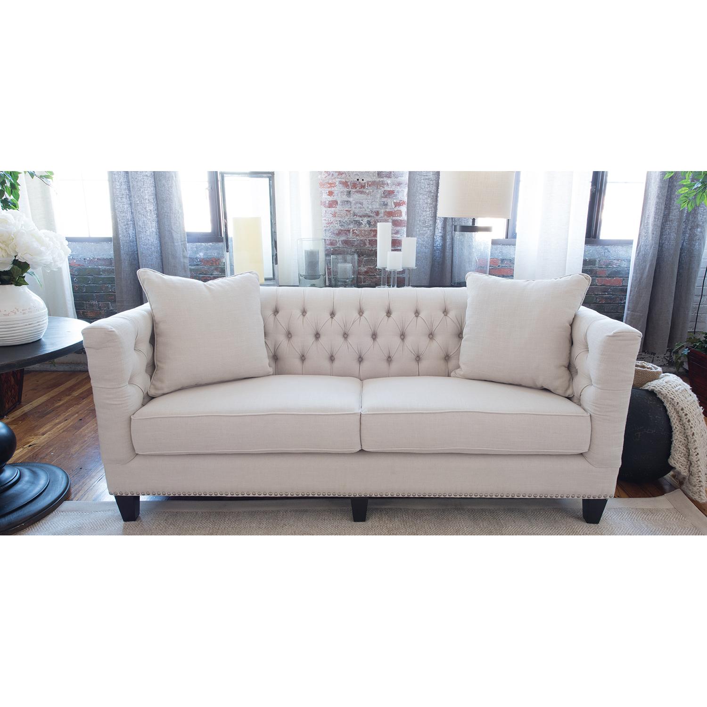South Beach 3 Pieces Fabric Sofa Set Seashell Nailhead  : sou s seas 7 nh30 from www.dcgstores.com size 1000 x 1000 jpeg 381kB