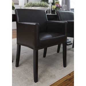 Studio Dining Chair - Truffle, Bonded Leather