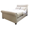 Tribeca Roll Bed with Footboard - Seashell
