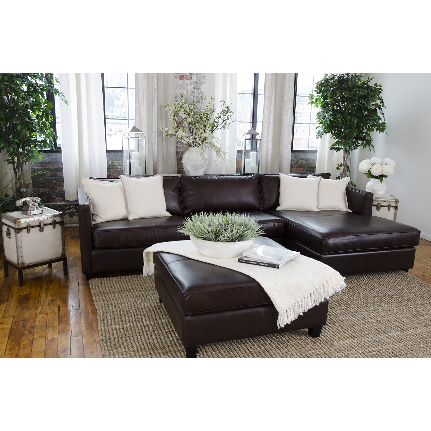 Urban 2-Piece Sectional Set - Right Arm Facing Chaise, Square Ottoman - ELE-URB-2PC-LAFL-RAFC-SCO-CAPP-1