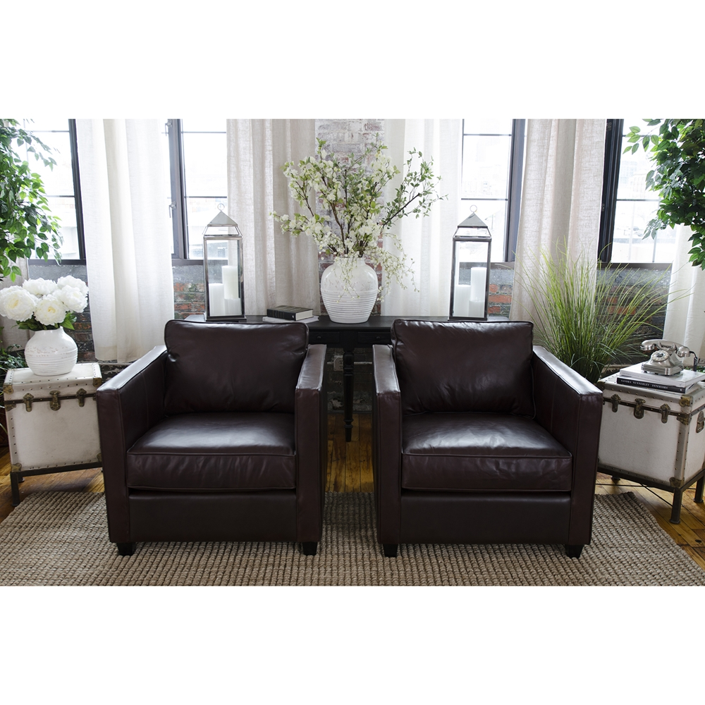 Urban 2 Piece Top Grain Leather Standard Chairs Dcg Stores