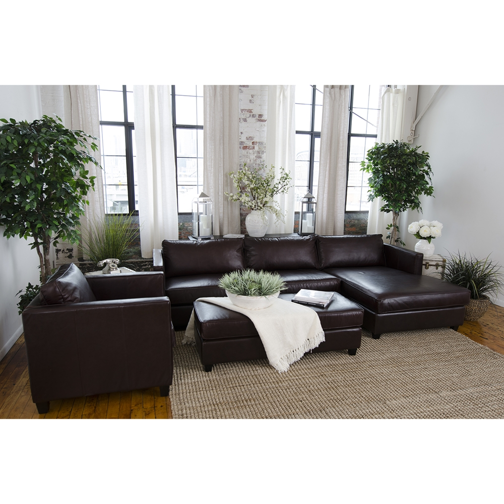 Urban 3 piece sectional set right arm facing chaise for Chaise urban but