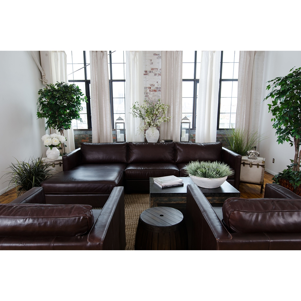 Urban 3 piece left arm chaise sectional and 2 standard for Chaise urban but