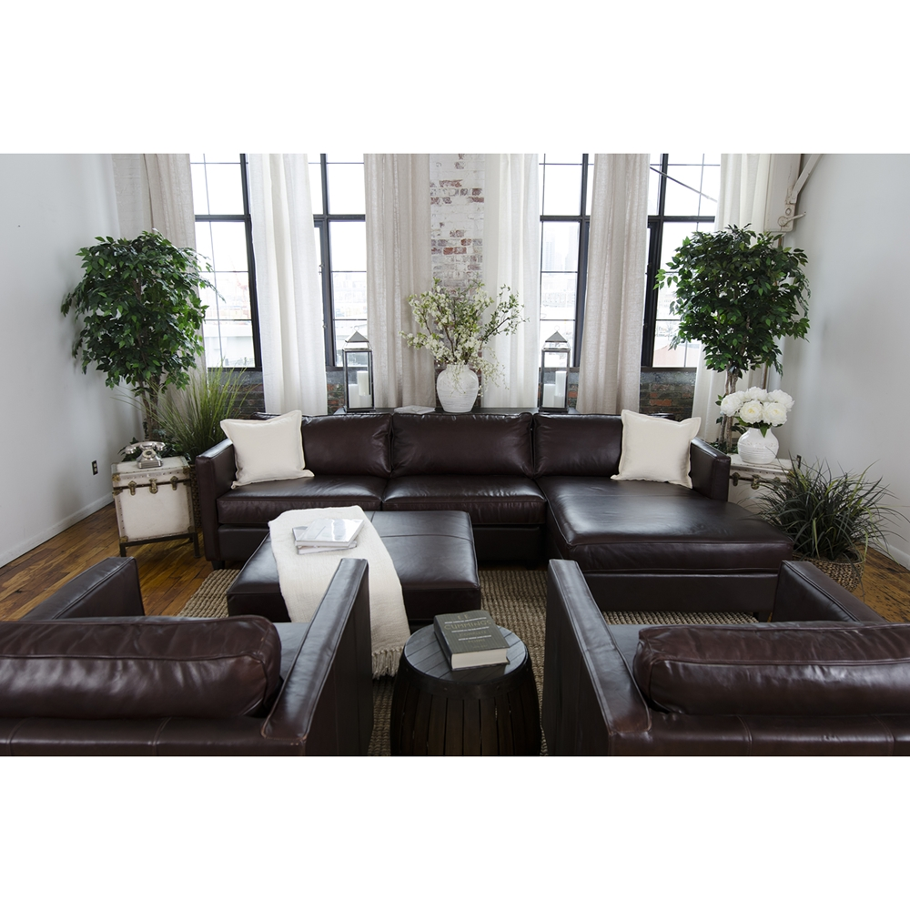 Urban 4 piece sectional set right arm facing chaise for Chaise urban but