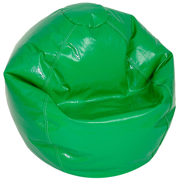 Green Vinyl Kids Bean Bag Chair