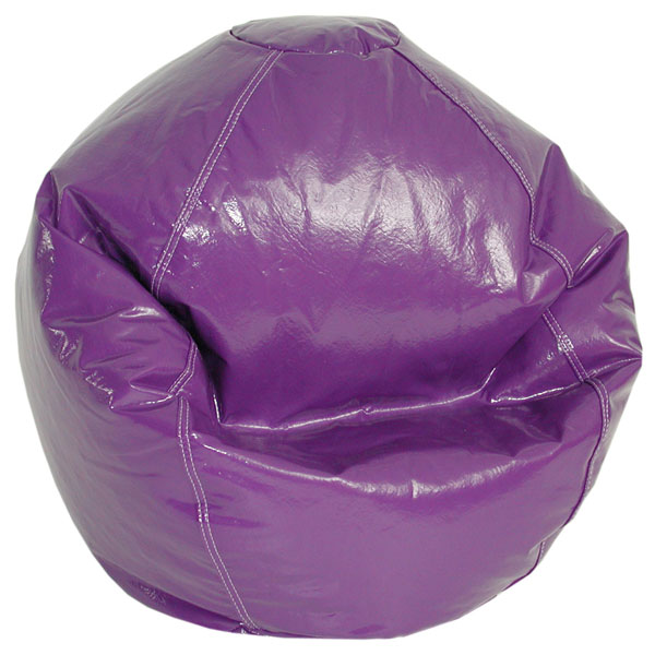 grape vinyl kids bean bag chair dcg stores. Black Bedroom Furniture Sets. Home Design Ideas