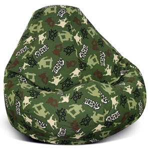 Skater Pear Shape Bean Bag Chair