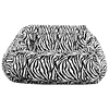 Zebra Print 2-Seater Plush Bean Bag - Velvet - EL-30-1052-595