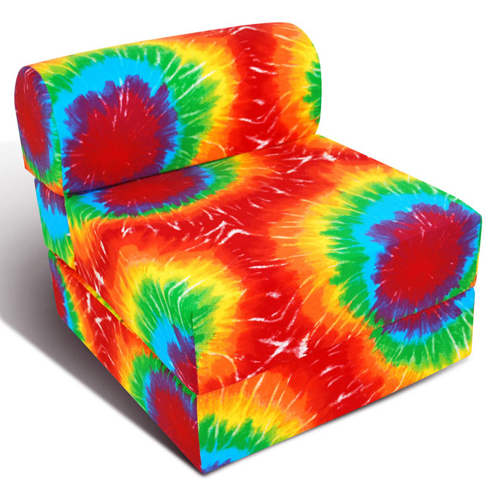 Childrenu0027s Foam Sleeper Chair   Summer Tye Dye