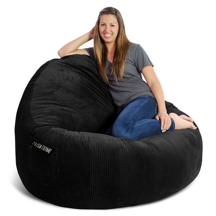 Genial ... Sitsational 2 Seater Bean Bag Chair   Zebra Print, Velvet   EL 32