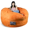 Mod Pod 50 Inch Suede Bean Bag - Pumpkin Orange - EL-32-6503-1010