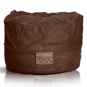 Mod Pod Chocolate Faux Suede 52 inch Bean Bag
