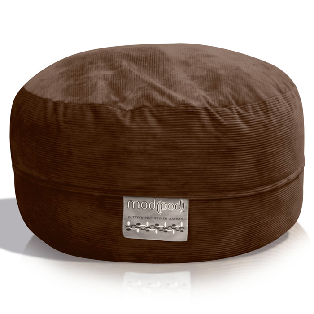 Mod Pod Chocolate Corduroy 52 Inch Bean Bag   EL 32 6503 409 ...