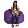 Mod Pod Bean Bag for Kids - Black Suede - EL-32-7014-467