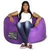 Mod Pod 40 Inch Suede Bean Bag - Purple - EL-32-7024-1009