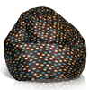 Classic Medium Bean Bag in Brown with Turquoise and Yellow Dots - EL-30-9501-005