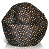 Classic Kids Bean Bag in Brown with Turquoise and Yellow Dots - EL-30-9500-005