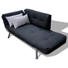 Mali Flex Futon Combo Solid Black Houndstooth Print Side Pillows El 55