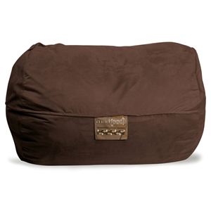 Mod Pod Chocolate Soft Suede Lounger Bean Bag