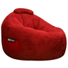 Omega Lipstick Red Faux Suede Lounger Bean Bag - EL-32-7501-461