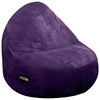 Sitsational 2-Seater Aubergine Corduroy Foam Bean Bag Chair - EL-32-6502-072