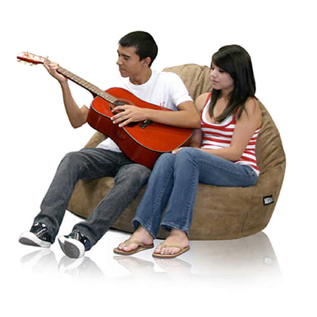 ... Sitsational 2 Seater Midnight Corduroy Foam Bean Bag Chair   EL 32 6502