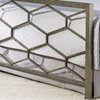 Camden Metal Bed with Geometric Panels - FBG-B11A2