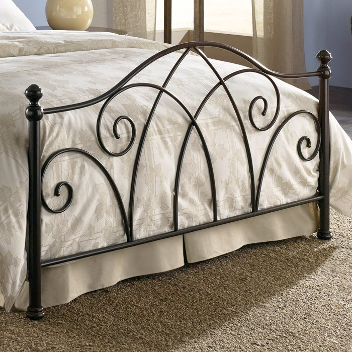 Deland Metal Bed in Brown Sparkle - FBG-B11A1