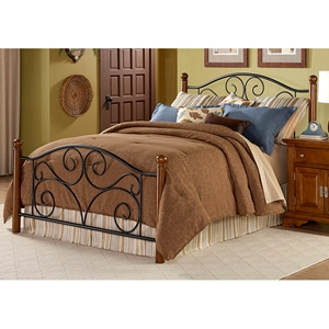 Doral Bed with Scrolled Grills and Wooden Posts